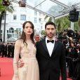 """Stacy Martin et Tahar Rahim - Montée des marches du film """" Le Grand Bain """" lors du 71e Festival International du Film de Cannes. Le 13 mai 2018. © Borde-Jacovides-Moreau/Bestimage"""