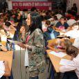 Exclusif - La chanteuse Alizée a donné de la voix pour se faire entendre des 109 élèves de 5e qui participaient à la dictée ELA. © Olivier Sanchez/Crystal Pictures/Bestimage