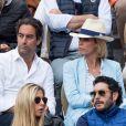 Sylvie Tellier et son mari Laurent - People dans les tribunes lors de la finale messieurs des internationaux de France de tennis de Roland Garros 2019 à Paris le 9 juin 2019. © Jacovides-Moreau/Bestimage