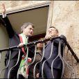 Le Roi Abdullah et Rania de Jordanie, reçus par le maire de Rome le 21 octobre 2009