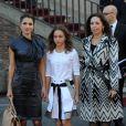 La reine Rania de Jordanie et sa fille la Princesse Iman arrivent au Campidoglio à Rome le 21 octobre 2009