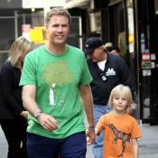Will Ferrell : Pour le futur papa, c'est jamais sans sa famille... même au travail !