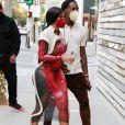 Offset et sa compagne Cardi B arrivent à une boutique Louis Vuitton à Los Angeles, le 22 janvier 2021.