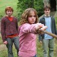 """Rupert Grint, Emma Watson et Daniel Radcliffe dans """"Harry Potter et le prisonnier d'Azkaban"""". 2004. @Warner Bros/KRT/ABACA."""