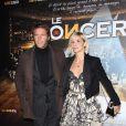 Emmanuel Philibert de Savoie et sa femme Clotilde Courau lors de la projection en avant-première du film Le Concert. Théâtre du Châtelet, le 23/10/09