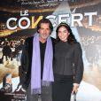 Christophe Barratier avec sa compagne lors de la projection en avant-première du film Le Concert. Théâtre du Châtelet, le 23/10/09
