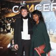 Sara Martins et son compagnon lors de la projection en avant-première du film Le Concert. Théâtre du Châtelet, le 23/10/09