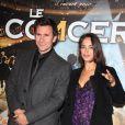 Bérénice Bejo et son compagnon Michel Hazanavicius lors de la projection en avant-première du film Le Concert. Théâtre du Châtelet, le 23/10/09