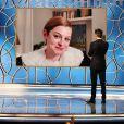 Emma Corrin (The Crown) - 78ème cérémonie des Golden Globe Awards, le 28 février 2021.