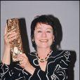 Annie Girardot, césar du meilleur second rôle pour  Les Misérables  de Claude Lelouch, le 3 mars 1996