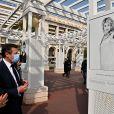 """Vernissage de l'exposition """"Libres et Égales"""" de la photographe Sylvia Galmot, sur la Promenade des Anglais. Nice, le 8 mars 2021. © Bruno Bebert / Bestimage"""