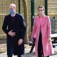 Le prince William, duc de Cambridge et Kate Catherine Middleton, duchesse de Cambridge, en visite à l'école 21 à Londres.