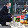 Le prince William, duc de Cambridge en visite à l'école 21 à Londres. Le 11 mars 2021