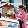 Kate Catherine Middleton, duchesse de Cambridge, en visite à l'école 21 à Londres. Le 11 mars 2021