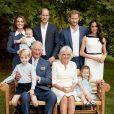 Photo de famille pour les 70 ans du prince Charles, prince de Galles, dans le jardin de Clarence House à Londres, Royaume Uni, le 14 novembre 2018.