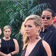 Tori Spelling et Jennie Garth lors d'un évènement au Westfield Century Mall à Los Angeles, le 19 août 2019.