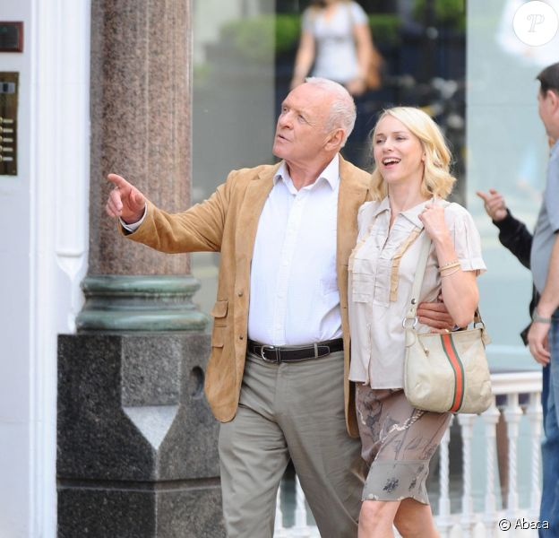Naomi Watts et Anthony Hopkins sur le tournage de You Will Meet A Tall Dark Stranger