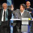 Les Magritte Du Cinéma 2012 - Bertrand Tavernier (président du jury) et Marie Gillain remettent le Magritte du meilleur film: Les Géants de Bouli LANNERS.