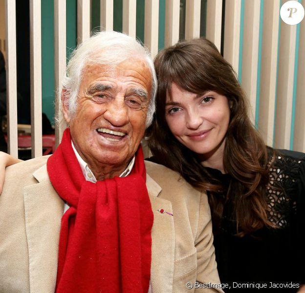 Jean-Paul Belmondo et sa petite-fille Annabelle à Paris. © Dominique Jacovides/Bestimage