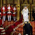 Elizabeth et le prince Philip ouvrent une session du parlement au palais de Westminster en 2012.
