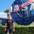 Romain Grosjean visite le John F. Kennedy Space Center à Merritt Island, en Floride. Avril 2021.