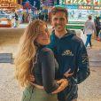 Eilie K. Nebbia, la nièce de Jennifer Aniston, et son mari Sean Nebbia. Octobre 2020.