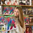 Leni Klum et le magazine Vogue, sur lequel elle pose avec sa mère Heidi Klum. Décembre 2020.