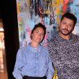 Exclusif - Alessandra Sublet, Kev Adams lors de la soirée de lancement du Fridge, le nouveau comedy club de Kev Adams à Paris le 24 septembre 2020. © Rachid Bellak / Bestimage