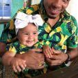 Le boxeur porto-ricain Felix Verdejo et sa fille Miranda. Juin 2020.
