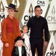 Pink, son mari Carey Hart et leurs enfants Jameson Hart et Willow Hart - 53ème édition des CMA Awards à Nashville dans le Tennessee, le 13 novembre 2019.