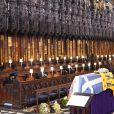 La reine Elisabeth II d'Angleterre - Funérailles du prince Philip, duc d'Edimbourg à la chapelle Saint-Georges du château de Windsor, Royaume Uni, le 17 avril 2021.
