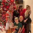 Neymar Jr en famille, avec ses parents, son fils David (en bas) et sa soeur Rafaella (à droite). Décembre 2020.