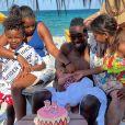 Blaise Matuidi et ses quatre enfants, Myliane, Naëlle, Eden et Nahla à Miami. Avril 2021.