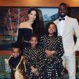 Blaise Matuidi, son épouse Isabelle Matuidi et leurs trois enfants en décembre 2019.
