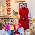La reine Maxima des Pays-Bas visite l'école primaire chrétienne (CBS) Sabina van Egmond à Oud-Beijerland, Pays-Bas, le 18 février 2021.