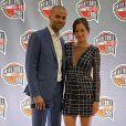 Tony Parker et Alizé Lim assistent à la cérémonie d'introduction de Tim Duncan au Basketball Hall Of Fame. Le 14 mai 2021.