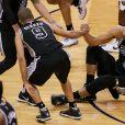 Tony Parker et Tim Duncan sous le maillot des San Antonio Spurs en 2016.
