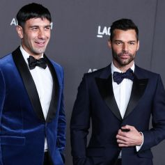 "Jwan Yosef et son mari Ricky Martin au photocall de la soirée ""LACMA Art + Film Gala"" au Los Angeles County Museum of Art."