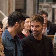 "Ricky Martin et son mari Jwan Yosef lors de l'installation artistique ""Tensegrity"" de J.Yosef dans l'église Santa Maria Montesanto de Rome, Italie, le 6 mai 2019"