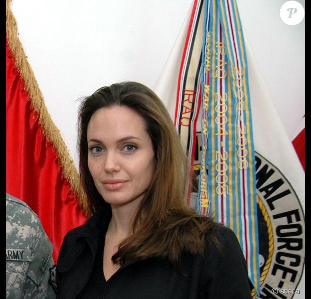 Angelina Jolie en Irak, le 7 février 2008