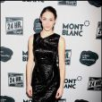 "La belle Emmy Rossum, à l'occasion de la grande soirée ""24 hours plays on Broadway"", à New York, le 9 novembre 2009."
