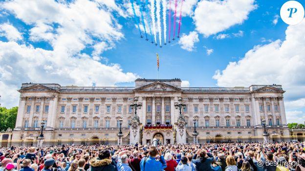 La parade Trooping the Colour 2019, célébrant le 93ème anniversaire de la reine Elisabeth II, au palais de Buckingham, Londres, le 8 juin 2019.