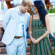 Le prince Harry et Meghan Markle - Réception dans les jardins de la résidence du haut-commissaire britannique au Cap, Afrique du Sud, le 24 septembre 2019.