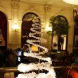 Quelques sapins de créateurs, à l'occasion de la 14e édition des Sapins de Noël des Créateurs, au Grand Hotel de Paris, le 24 novembre 2009.