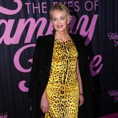 """Sharon Stone à l'avant-première du film """"The Eyes of Tammy Faye"""" à New York, le 14 septembre 2021."""