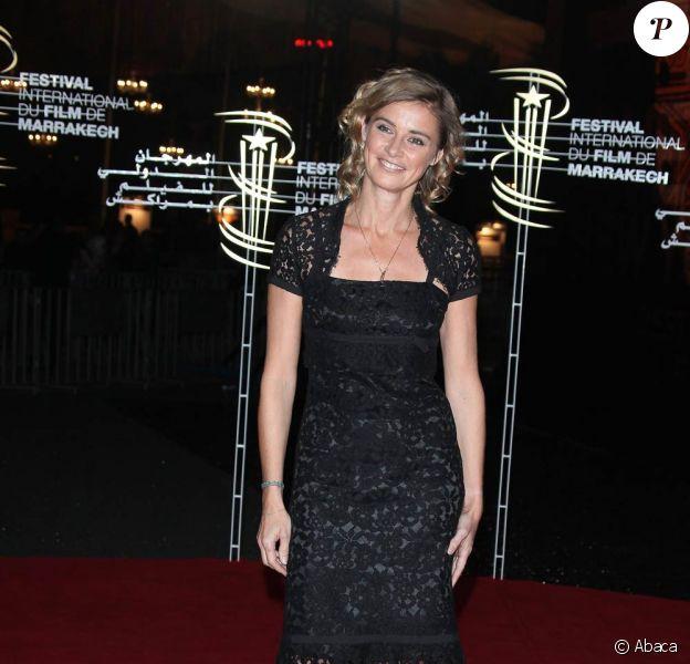 La ravissante Anne Consigny, à l'occasion de l'ouverture du 9e Festival International du Film de Marrakech, au Maroc, le 4 décembre 2009.