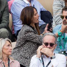 Christophe Maé et compagne Nadège Sarron - Finale messieurs des internationaux de France de tennis de Roland-Garros 2019 à Paris le 9 juin 2019. © Jacovides-Moreau/Bestimage