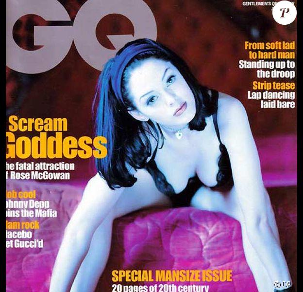 La très belle Rose McGowan en couverture de GQ.