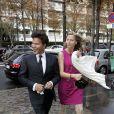 Igor Bogdanoff et Amélie de Bourbon-Parme mariés le 1er octobre 2009