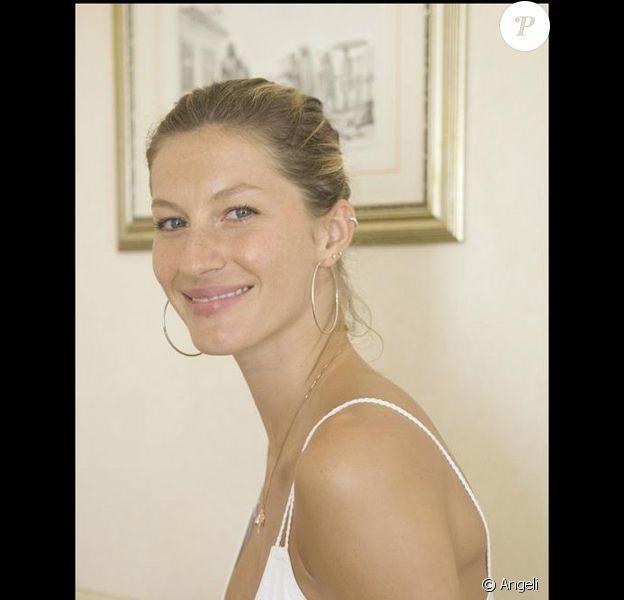 Gisele Bündchen pose en janvier 2008 dans un palace de Rio de Janiero